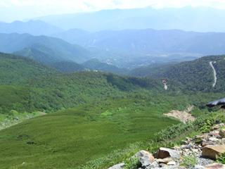 下山中の景色