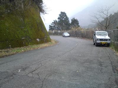 奈良側の空も真っ白です