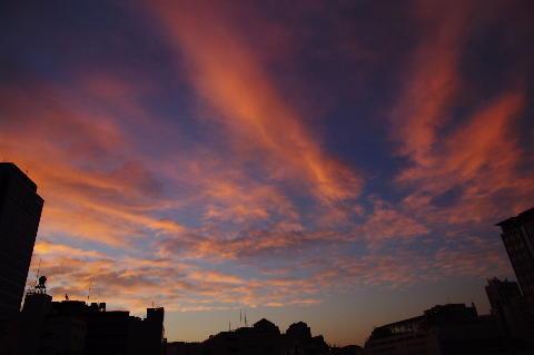 07/16 04:30の朝焼け