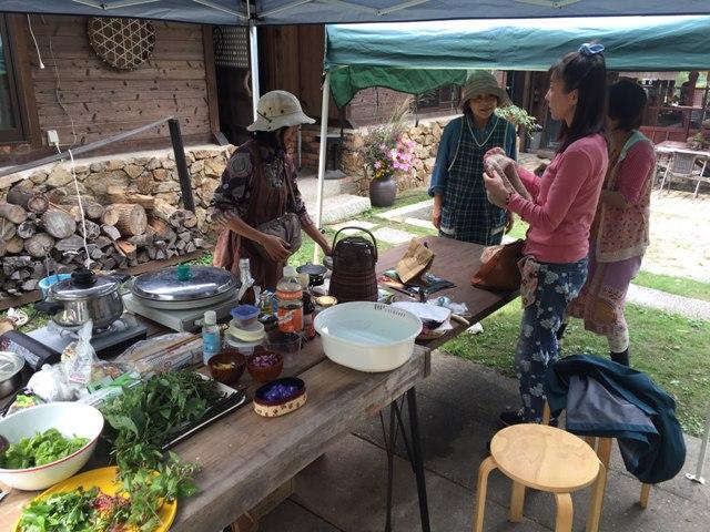 リカさんの野草料理教室