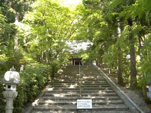 阿弥陀堂前の階段