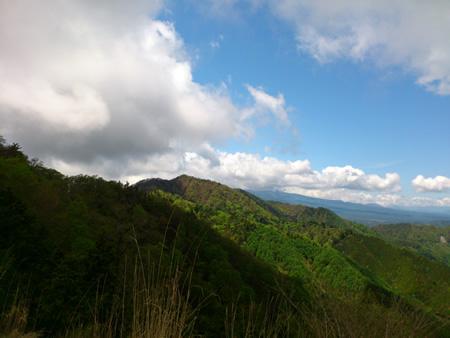 道志トレイルから富士山
