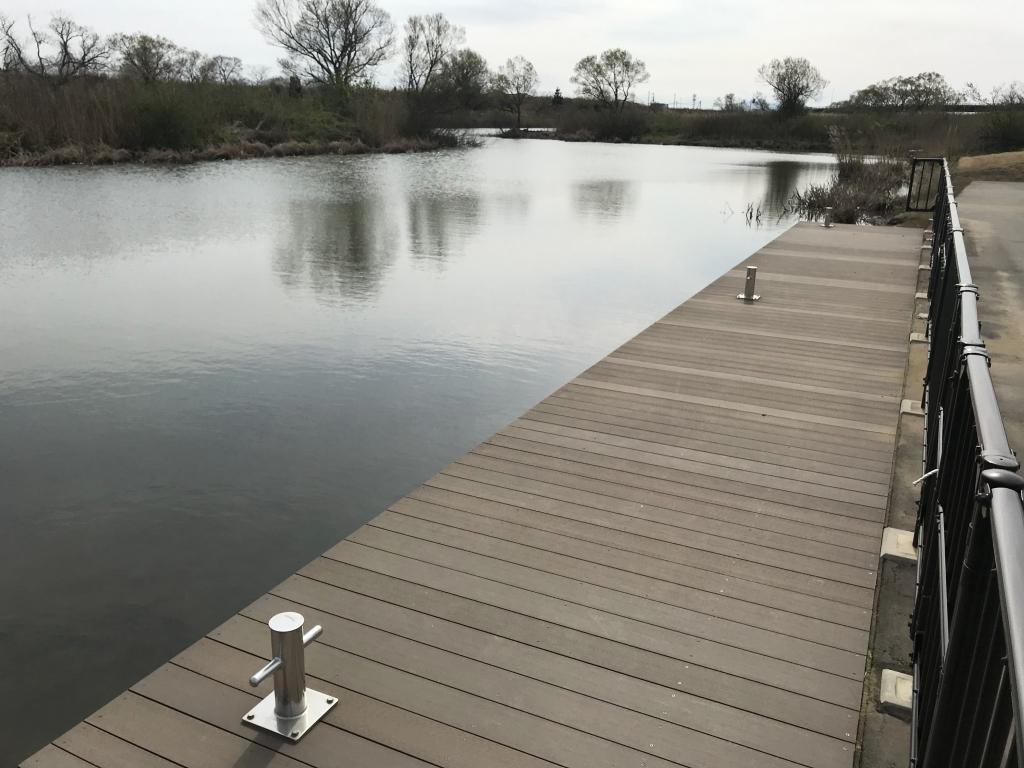 小阿賀野川のカヌー乗り場(新潟県)