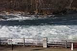 ナイアガラ川の速い流れ