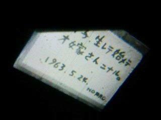 生マレテ始メテオ嫁サンニナル1963.5.24.