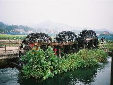 朝倉町の三連水車