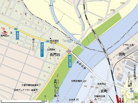 長門石橋の地図