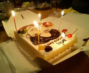 フナックさんのバースデイケーキ
