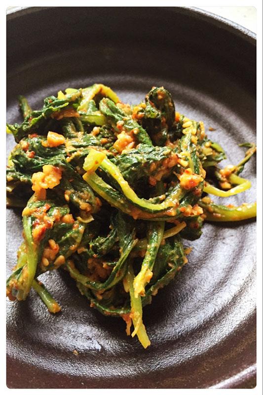 ふき の 葉 の 料理