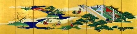 狩野養信 源氏物語子の日図屏風(右隻)遠山記念館蔵1.jpg