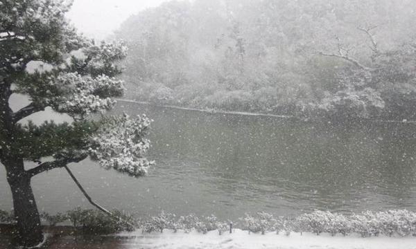 雪の日の松江