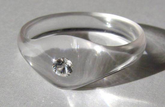 plastic diamond ring