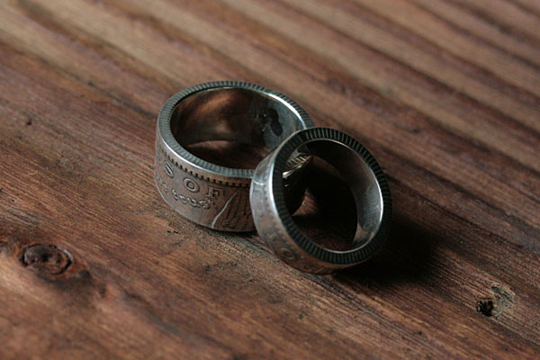 Morgan Dollar Pair Ring