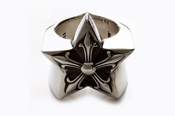 CHROME HEARTS RING STAR LARGE