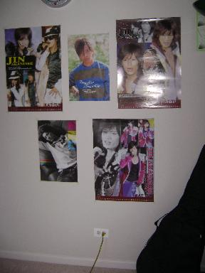 wall with posters