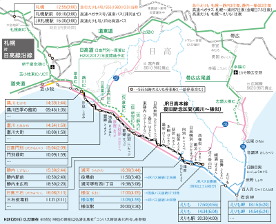 JR日高本線類 時刻表1