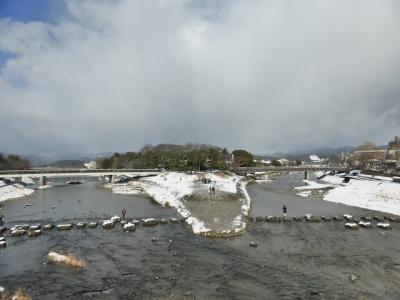 京都 雪 鴨川合流点