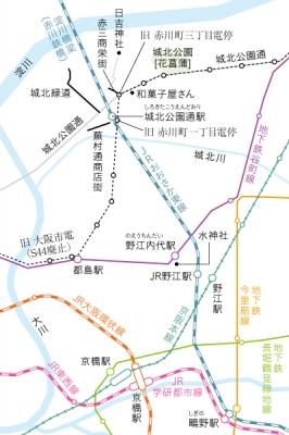 城北公園通駅 JR野江駅 地図