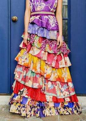 着物ドレス 椿屋:COLORFUL DRESS