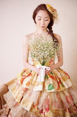 着物ドレス 丸帯