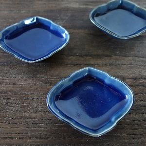 瑠璃釉小皿,古道具