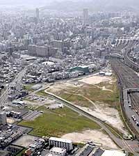 新球場建設地(貨物ヤード跡地)