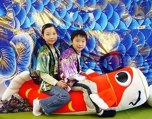 ジャンボ鯉のぼりぬいぐるみ3-300