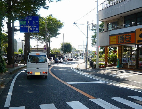 木下街道北方十字路右折