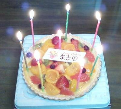 母へのバースデーケーキ