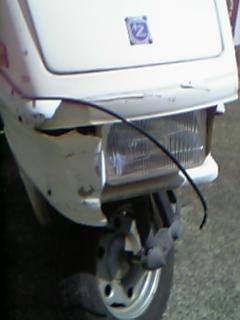 ヘッドライトの枠の取れ方がイカしたバイク