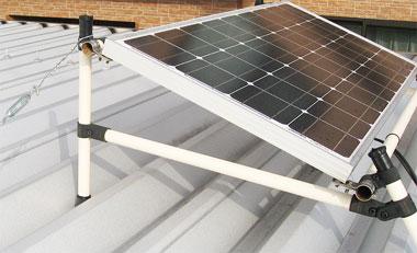 ソーラーパネルをカーポートに固定1