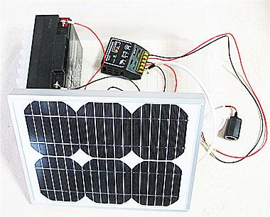 1万円以下の予算で出来上がった自作ソーラー(太陽光)発電システム