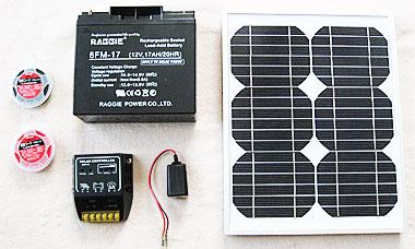 1万円以下で揃えた自作ソーラー(太陽光)発電機材