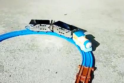 ソーラープラレール走行テスト