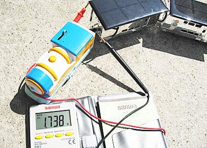 パネルを追加する前の電圧