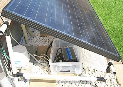 200WソーラーパネルとGTI-BOXの設置完了