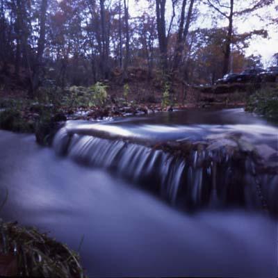 夕方の水流