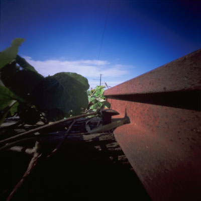 橋の上の線路