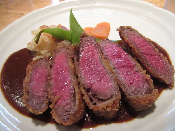 京都の洋食屋はふうのビーフカツ