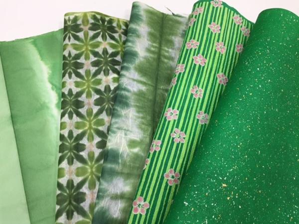 緑いろの和紙は、インテリアに使える