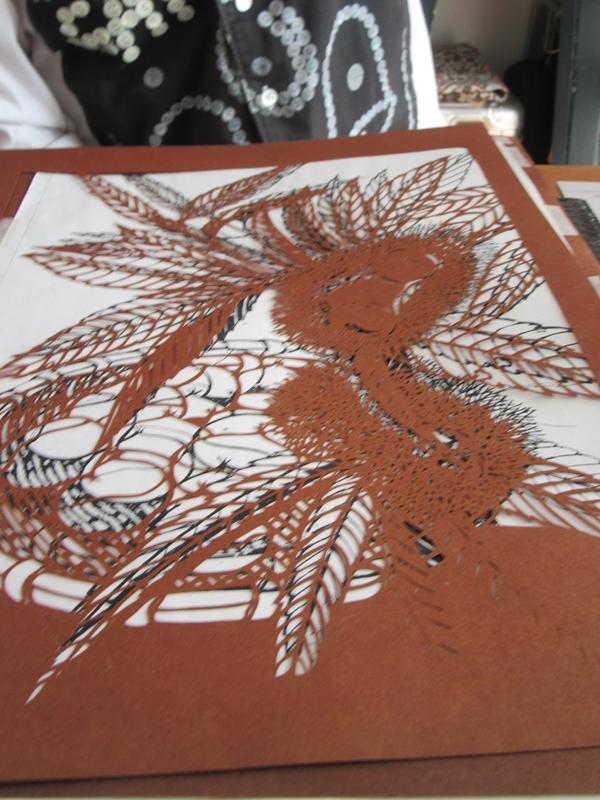 久保修さん、切り絵の描き方