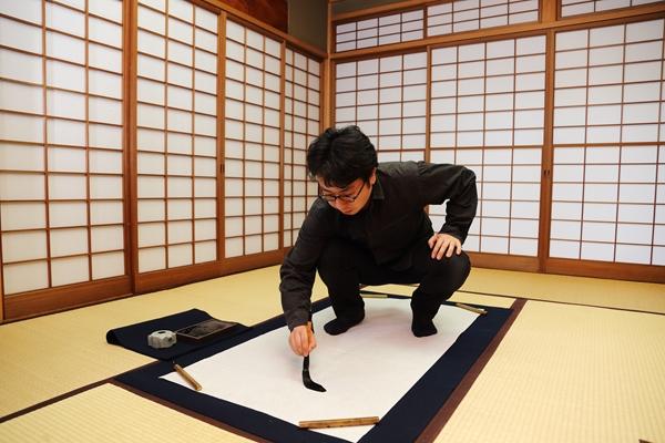 永田灌櫻さん練習風景