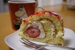 ハンブルグのイチゴのロールケーキ!オイスィ!