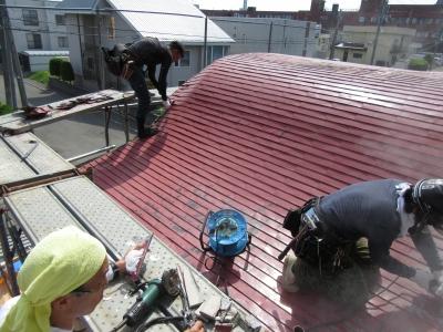 分院本堂屋根修理事業