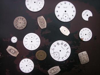 時計のダイヤル部分