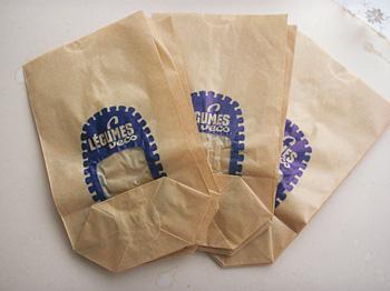 ワックスペーパーの紙袋