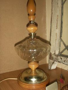 ベラムランプ木製の台