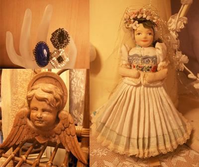 花嫁人形・リング・天使像