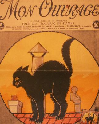 フランスの猫が表紙の新聞