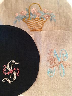 atelier Nさんのがま口バッグ刺繍部分